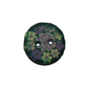 Billede af Blomstret cernit knap