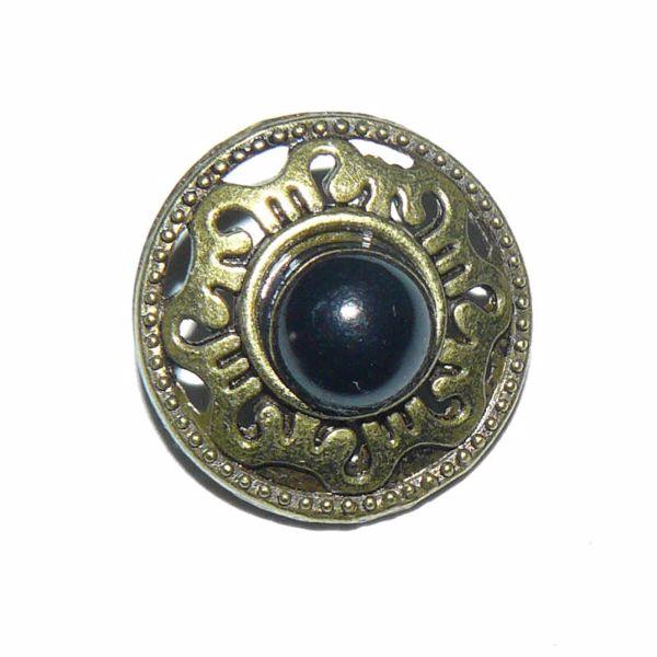 Billede af Perle metal knap