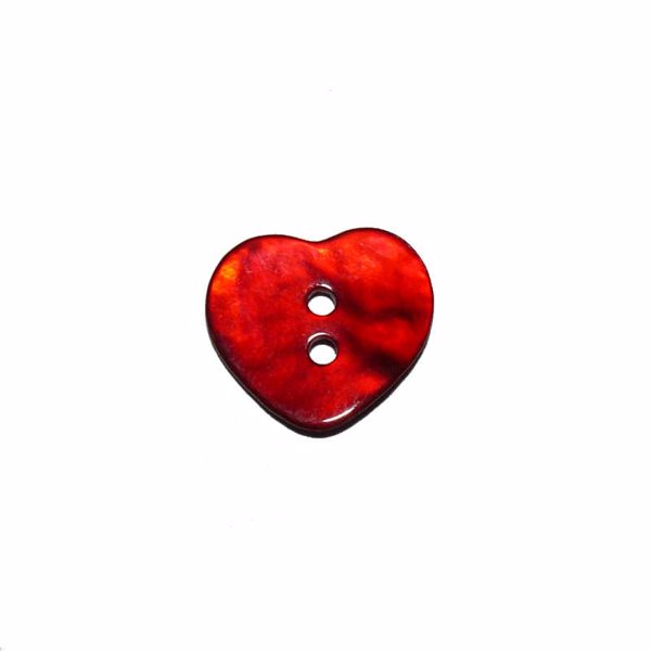 Billede af Hjerte perlemorsknap