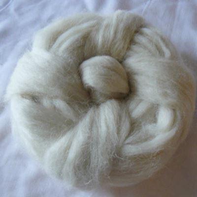 Baby Alpakka tops - Natur Hvid