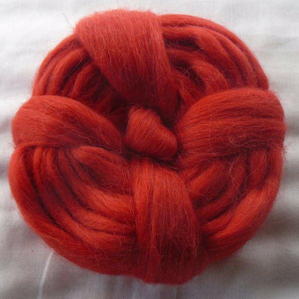 Billede af Alpakka tops - Rød - 80 gram