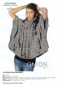 Onion Poncho med løbemasker - Grå