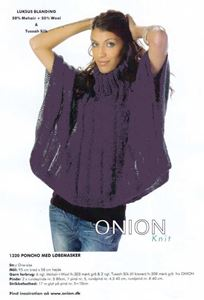 Onion Poncho med løbemasker - Lilla