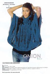 Onion Poncho med løbemasker - Petroleum