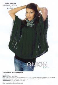 Onion Poncho med løbemasker - Flaskegrøn
