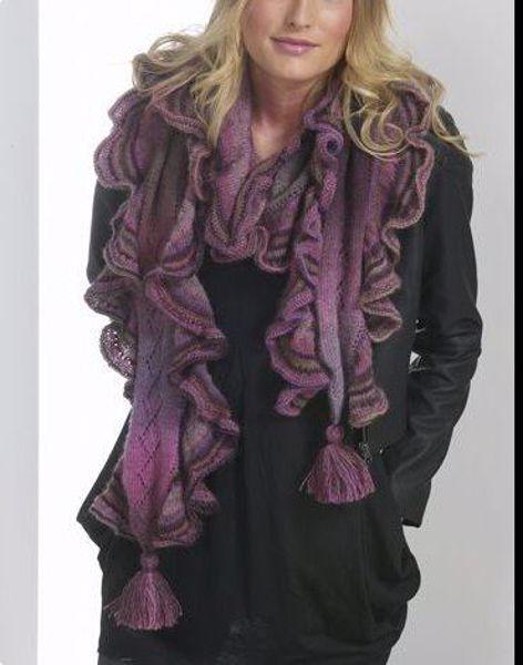 Halstørklæde med flæse - 11061