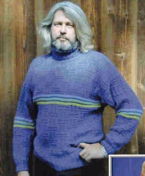 Herre/drenge bluse med reliefmønster - PS 2217 strikket af Tynn Alpakka fra Du Store Alpakka