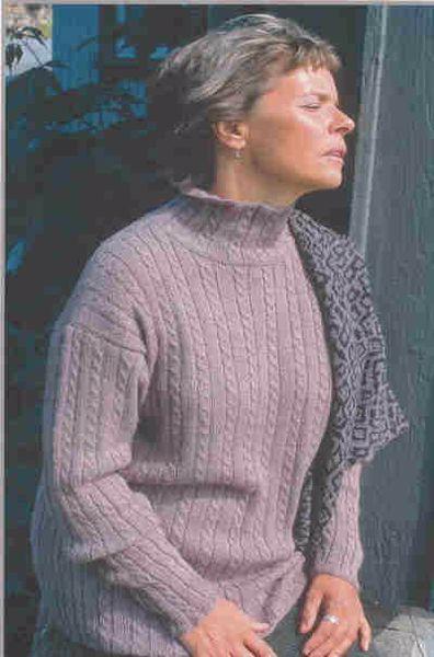 Bluse med snoninger - PS 004 af Tynn Alpakka fra Du Store Alpakka