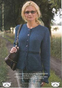 Chanel trøje med hæklet talje - BS 2606 af Tynn Alpakka og BabySilk fra Du Store Alpakka