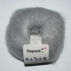 Super lækker og blød Kid Silk 5 - Kidmohair og silke fra Grignasco - 1226 Lysegrå