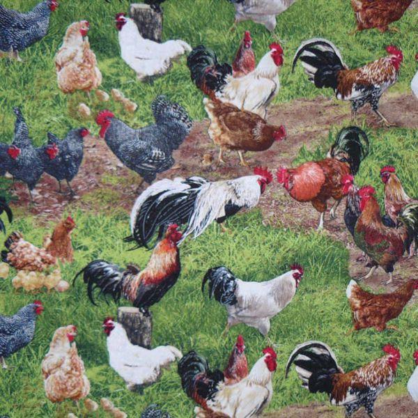 Billede af Farverige Høns - Fat quarter