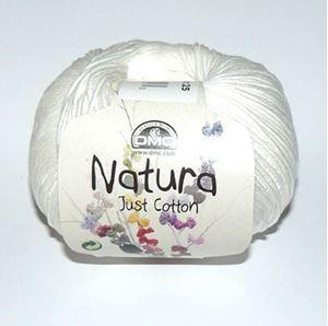 DMC Natura Just Cotton - lækkert miljøvenligt bomuldsgarn - Garn fra DMC - N02 Natur Hvid