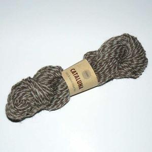 Cataluna Ufarvet Naturuld - Lækkert strikke garn fra CeWeC - 17 Brun/Hvid Mix