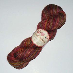Misti Alpaca - Lækker 100% Baby Alpakka til spindelvævs sjaler - LP10 Red Rover