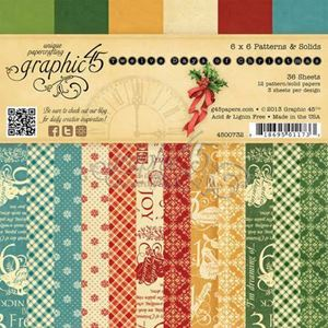 "Blok 6x6 - 12 days of Christmas 6"" Designpapir blok fra Graphic 45"