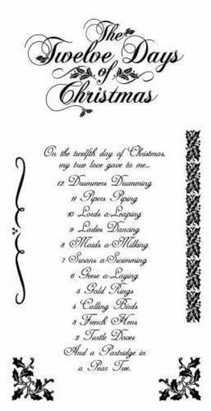 Cling Stamp - The twelve days of Chistmas fra Graphic 45