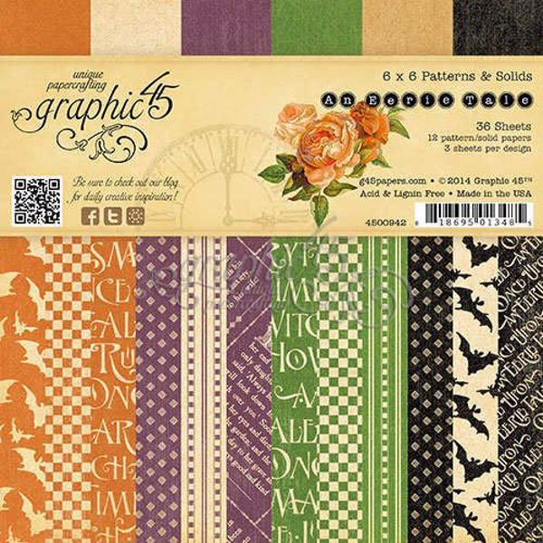 Blok 6x6 - An Eerie Tale -  Designpapir blok fra Graphic 45