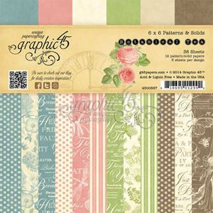"Blok 6x6 - Botanical Tea 6"" Designpapir blok fra Graphic 45"
