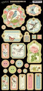 Chipboard 1 - Botanical Tea fra Graphic 45
