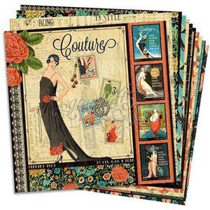 "Designpapir sæt - Couture 12"" Designpapir fra Graphic 45"