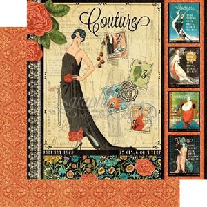 "Couture - Couture 12"" Designpapir fra Graphic 45"