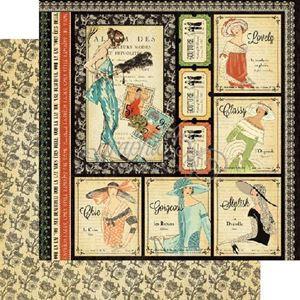 "Beautiful - Couture 12"" Designpapir fra Graphic 45"