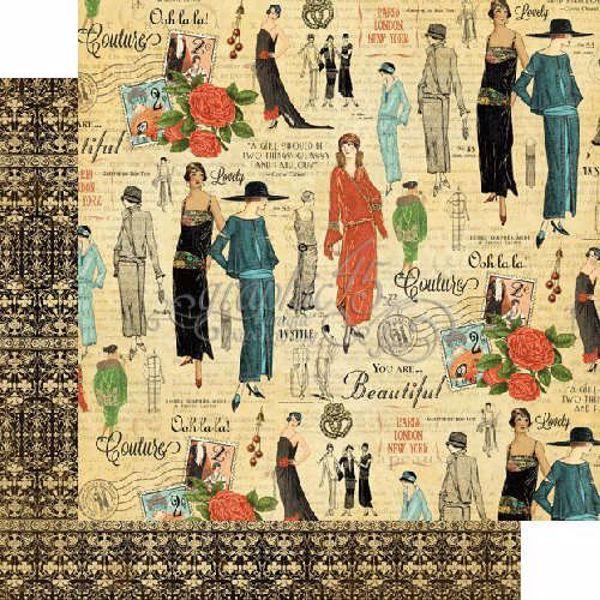 """Chic - Couture 12"""" Designpapir fra Graphic 45"""
