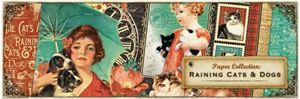 "Designpapir sæt - Raining Cats & Dogs 12"" fra Graphic 45"