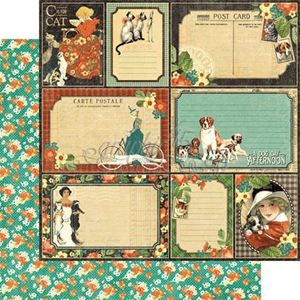 "Four-legged Friend - Raining Cats & Dogs 12"" Designpapir fra Graphic 45"