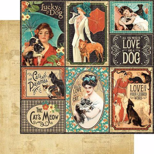 Well Bred - Raining Cats & Dogs fra Graphic 45