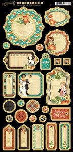 Journaling Chipboard - Raining Cats & Dogs fra Graphic 45