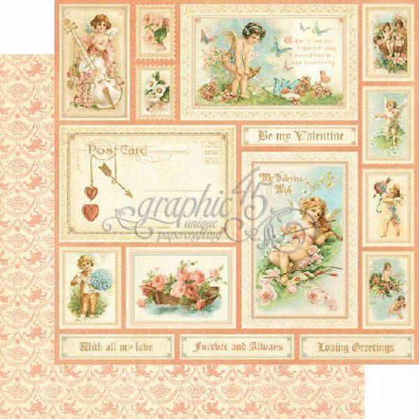 "Be My Valentine - Sweet Sentiment 12"" Designpapir fra Graphic 45"