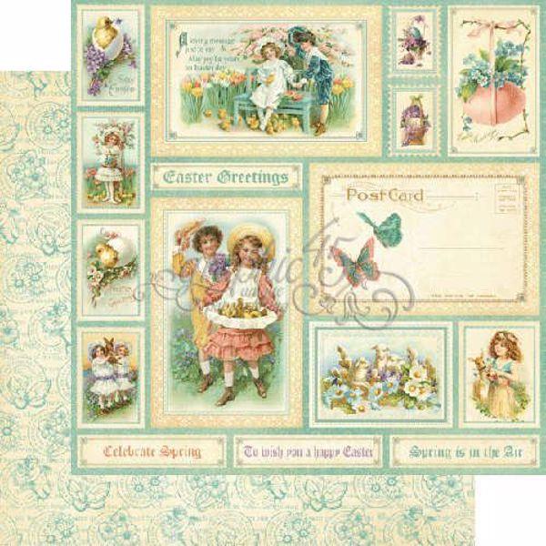 "Easter Greetings - Sweet Sentiment 12"" Designpapir fra Graphic 45"