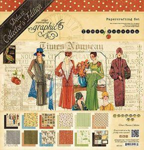 Blok 12x12 Sæt - Times Nouveau - Deluxe Collector's Edition  fra Graphic 45