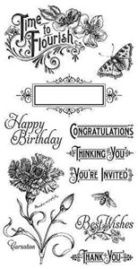 Cling Stamp 1 - Time to Flourish fra Graphic 45