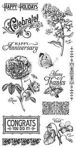 Cling Stamp 2 - Time to Flourish fra Graphic 45