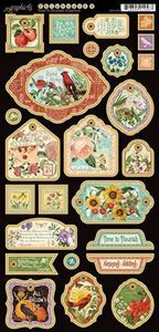 Dekorativ Chipboard - Time to Flourish fra Graphic 45