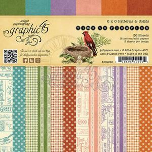 "Blok 6x6 - Time to Flourish 6"" Designpapir fra Graphic 45"
