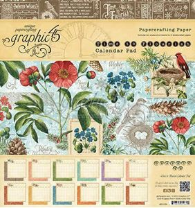 "Blok 8x8 - Time to Flourish Calender 8"" Designpapir blok fra Graphic 45"