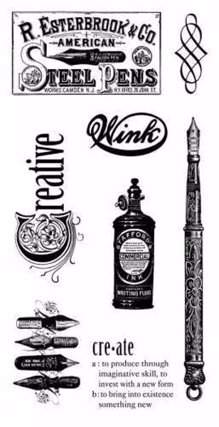 Cling Stamp 2 - Typography fra Graphic 45