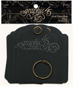 Graphic 45 Tags Album 6,5 x 9 cm - Sort