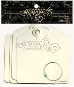 Graphic 45 Tags Album 6,5 x 9 cm - Ibenholt