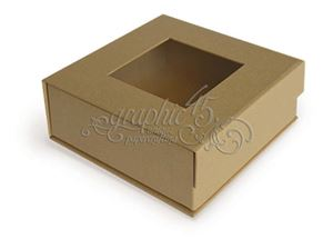 Graphic 45 - LågBox 12,7x12,7 cm - Kraft