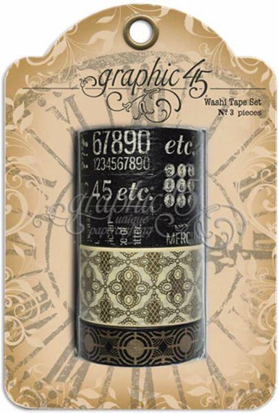 Washi Tape - Sort fra Graphic 45