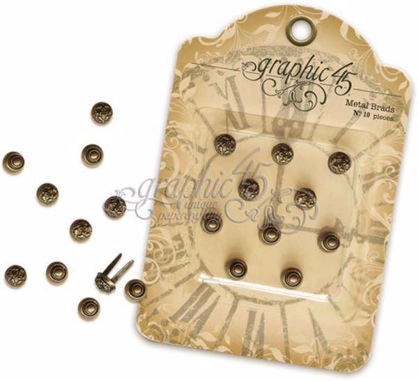 Antikke ornamentale Brads fra Graphic 45