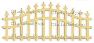 Buet hegn - Wrought Iron Fence - Die Standsejern fra La-La Land Crafts -  41459