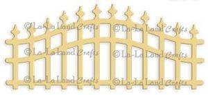 Buet hegn - Wrought Iron Fence - Die Standsejern fra La-La Land Crafts -  41459