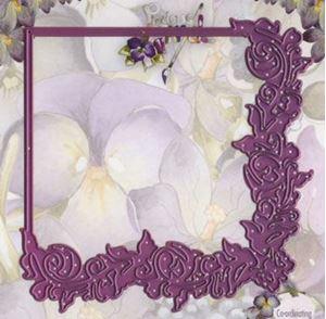 Blomster ramme - Floral frame - die standsejern fra Precious Mareike -  PM10004