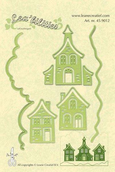 Huse - Houses - Dies Standsejern fra Leane Creatief - 45.9012