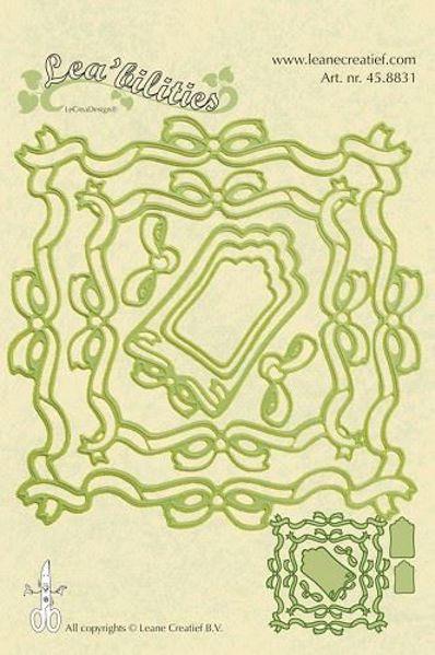 Sløjferammer og tags - Dies Standsejern fra Leane Creatief - 45.8831